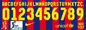 Barcelona Basket 2015 font