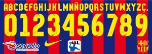 Barcelona 2015 handball font