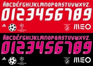 Benfica 2015 font