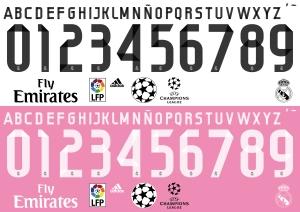 Tipografía Real Madrid 2015