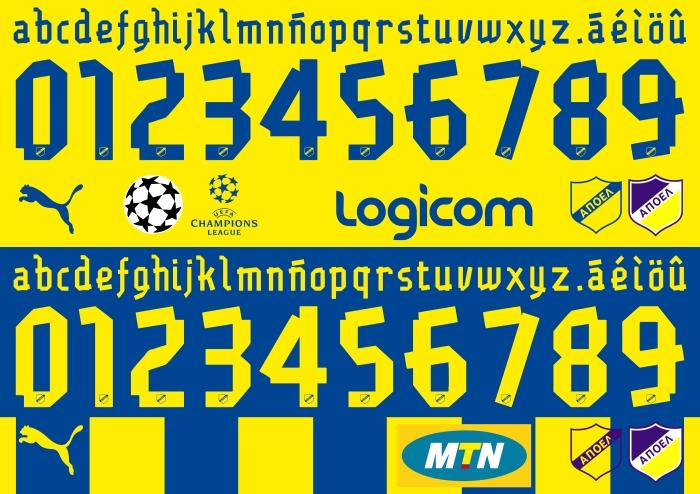 APOEL 2015 font