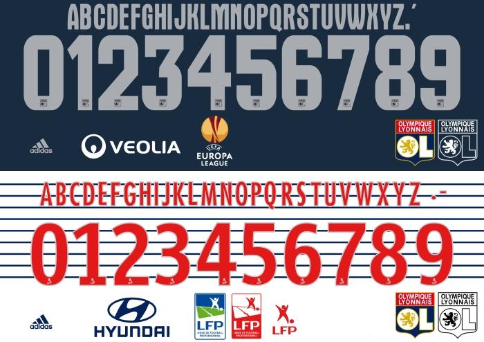 Olympique Lyon 2015 font