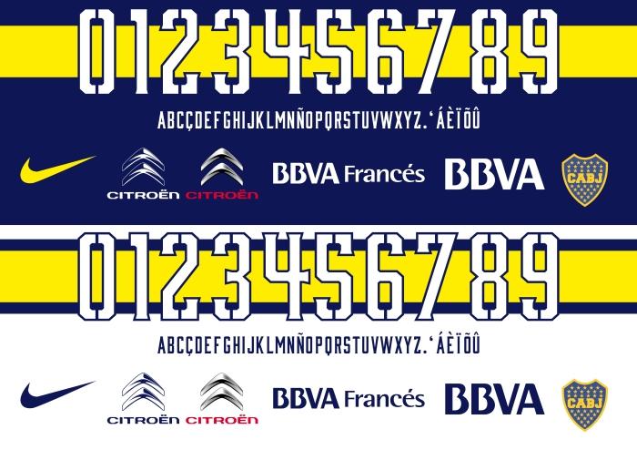 Boca Juniors 2015 font