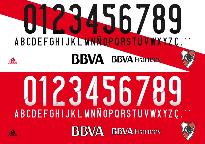 River Plate 2015 font