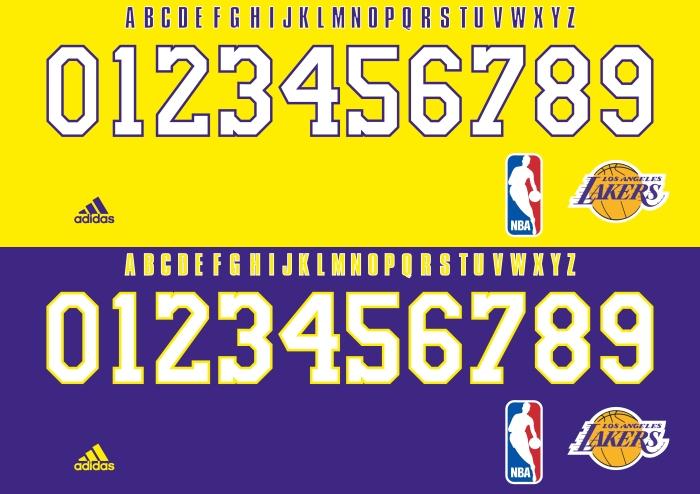 Lakers font