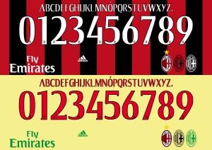 Milan 2015 font