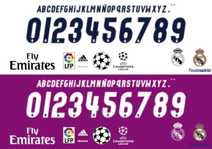 Real Madrid Sport Fonts
