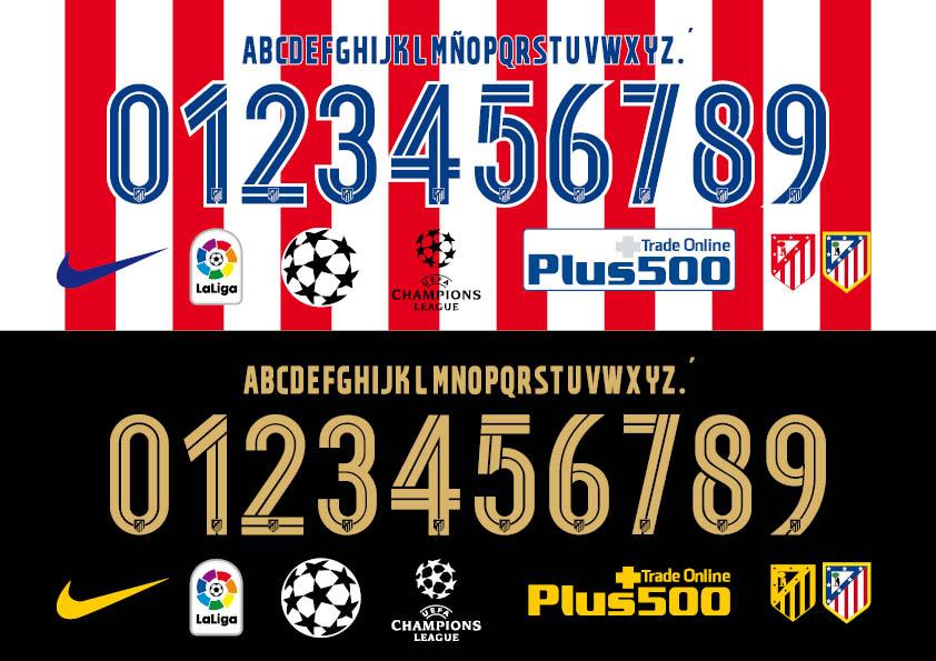 Atlético de Madrid 2017 font   Sport Fonts